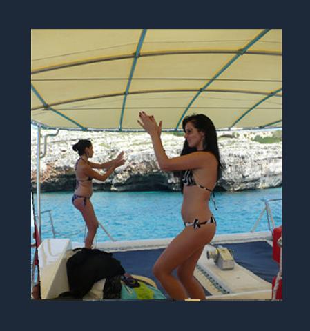 si balla a bordo della barca