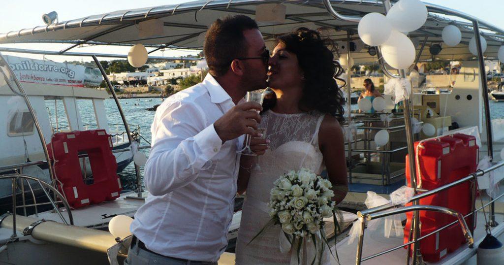 Un matrimonio da favola in barca